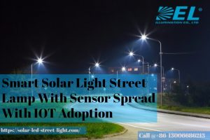 Smart Solar Light Street Lamp With Sensor Spread With Iot Adoption